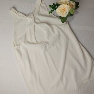 Alice+Olivia White Silk Long Tank Blouse Small